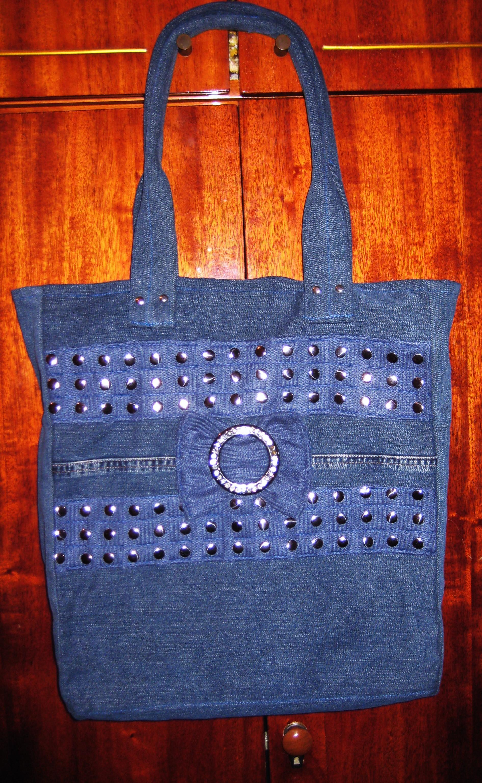 06fc47e9ef1b По просьбе сестры сшила ей джинсовую сумку. Просила сшить простую походную  для работы без