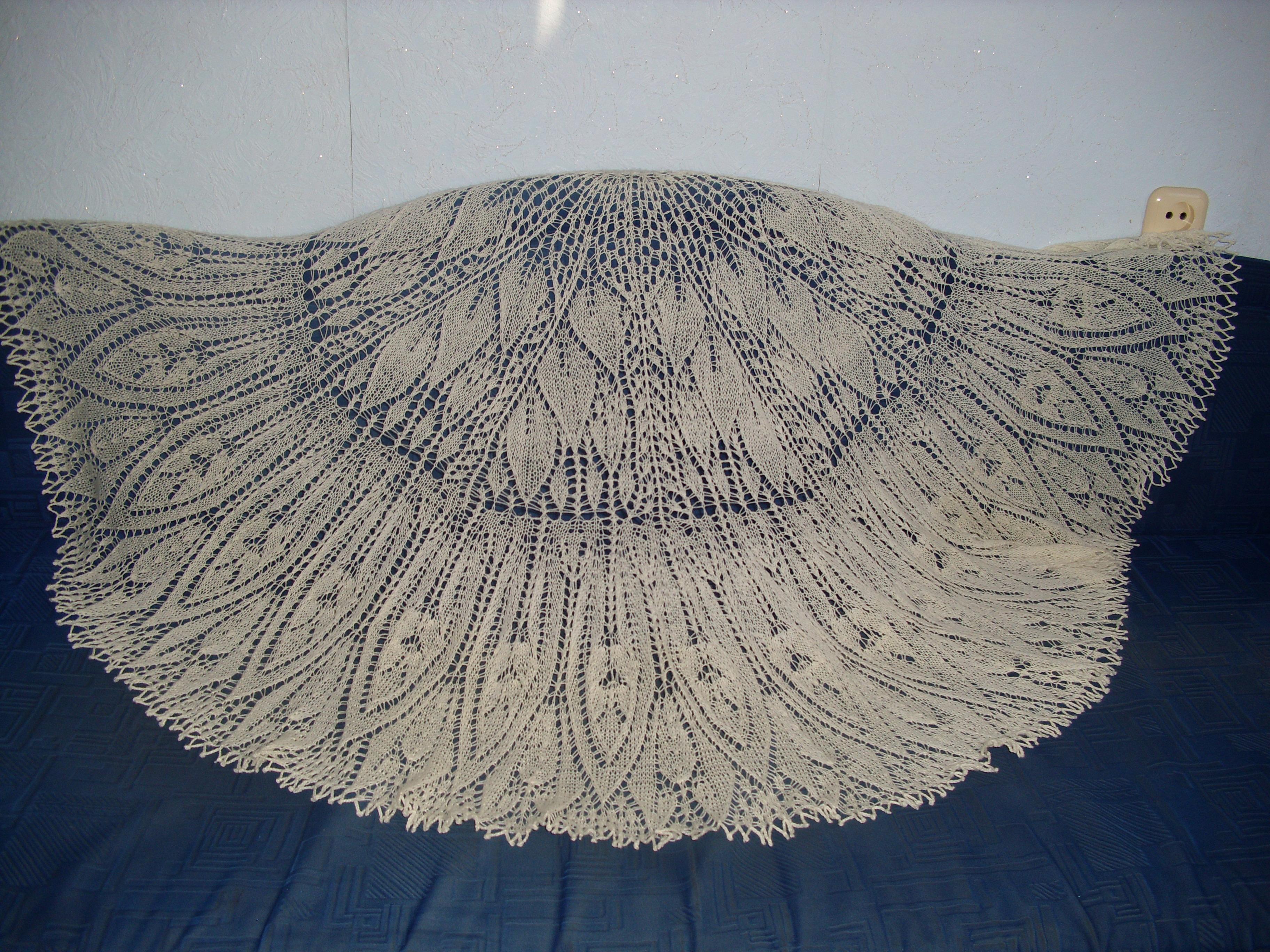 фарерская шаль спицами схема и описание