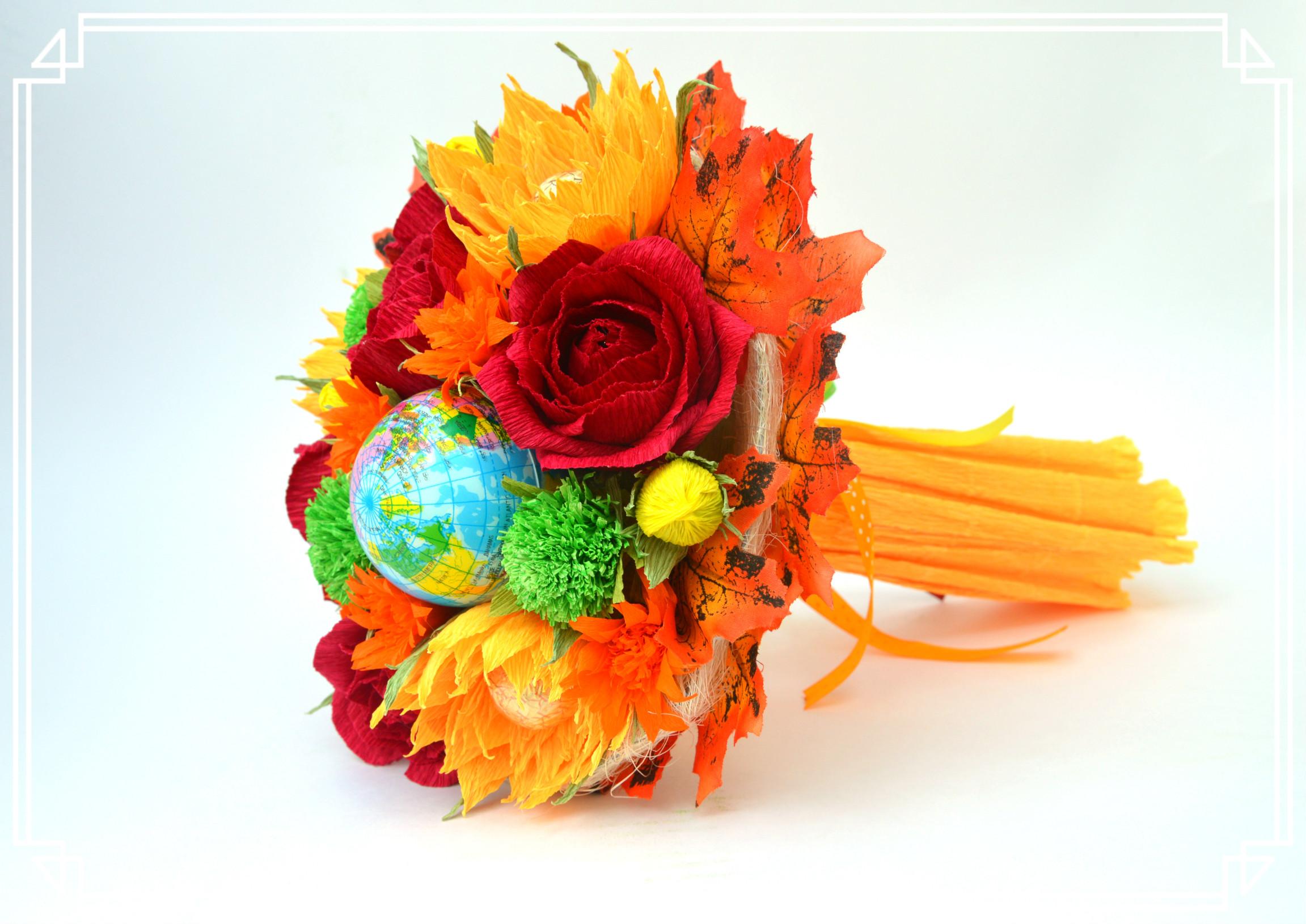 Цветок, готовые букеты к 1 сентября из конфет