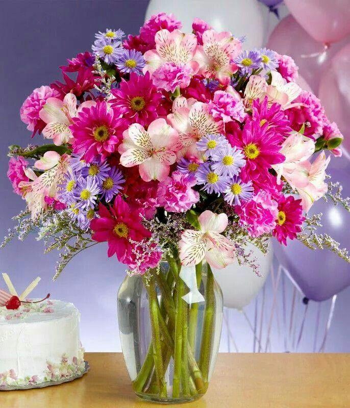 Букет цветов на день рождения девушке картинки