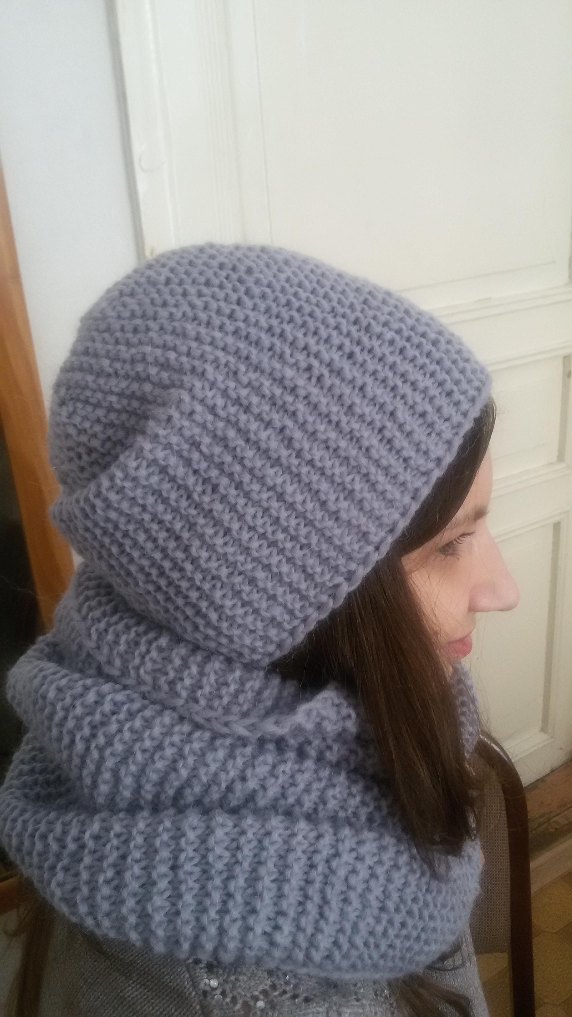 шапка бини снуд спицами запись пользователя Olga ольга в