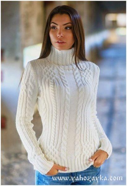 белый свитер запись пользователя людмила в сообществе вязание