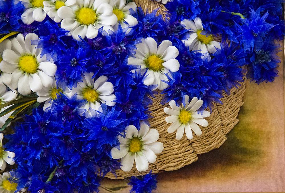 Анимированные картинки, картинки цветов васильки и ромашки