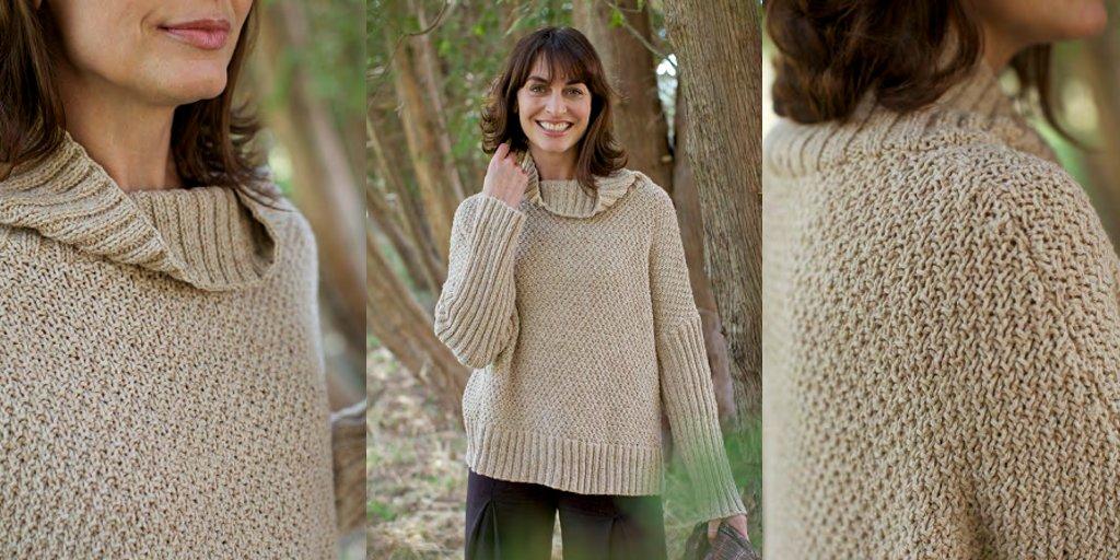 пуловер оверсайз спицами узором рис запись пользователя лисик