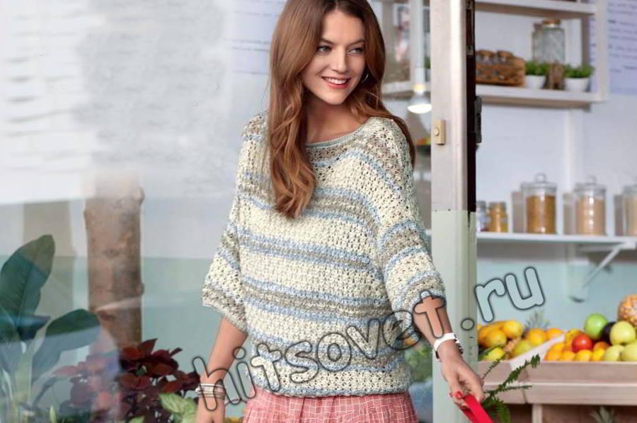летний пуловер из хлопка запись пользователя лисик светлана в