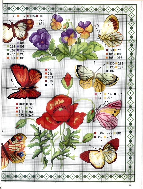 Вышивка с бабочками фото 100