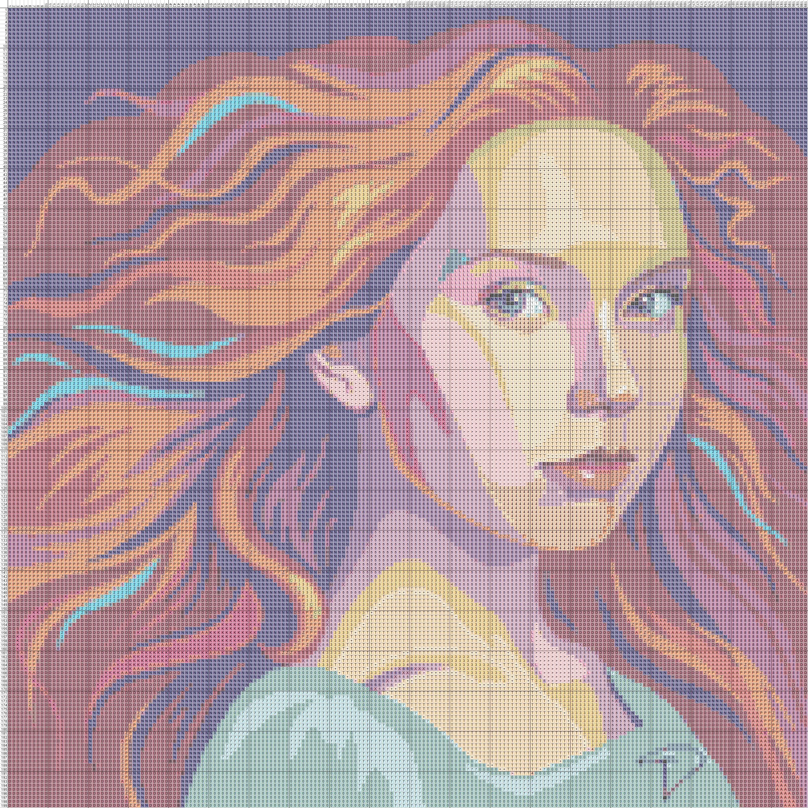 Схема портрет для вышивки крестом