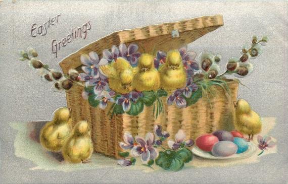 Финская открытка с пасхой, поздравления