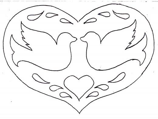 Шаблон на открытки ко дню святого валентина