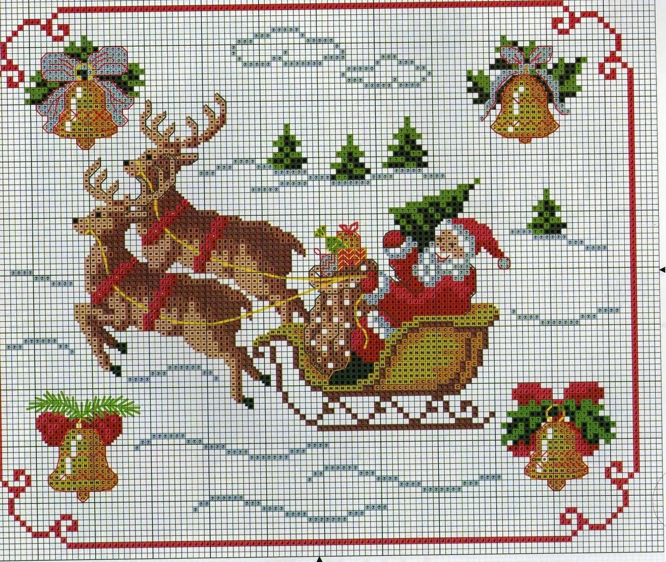 Поздравления, новогодние картинки вышивки крестиком
