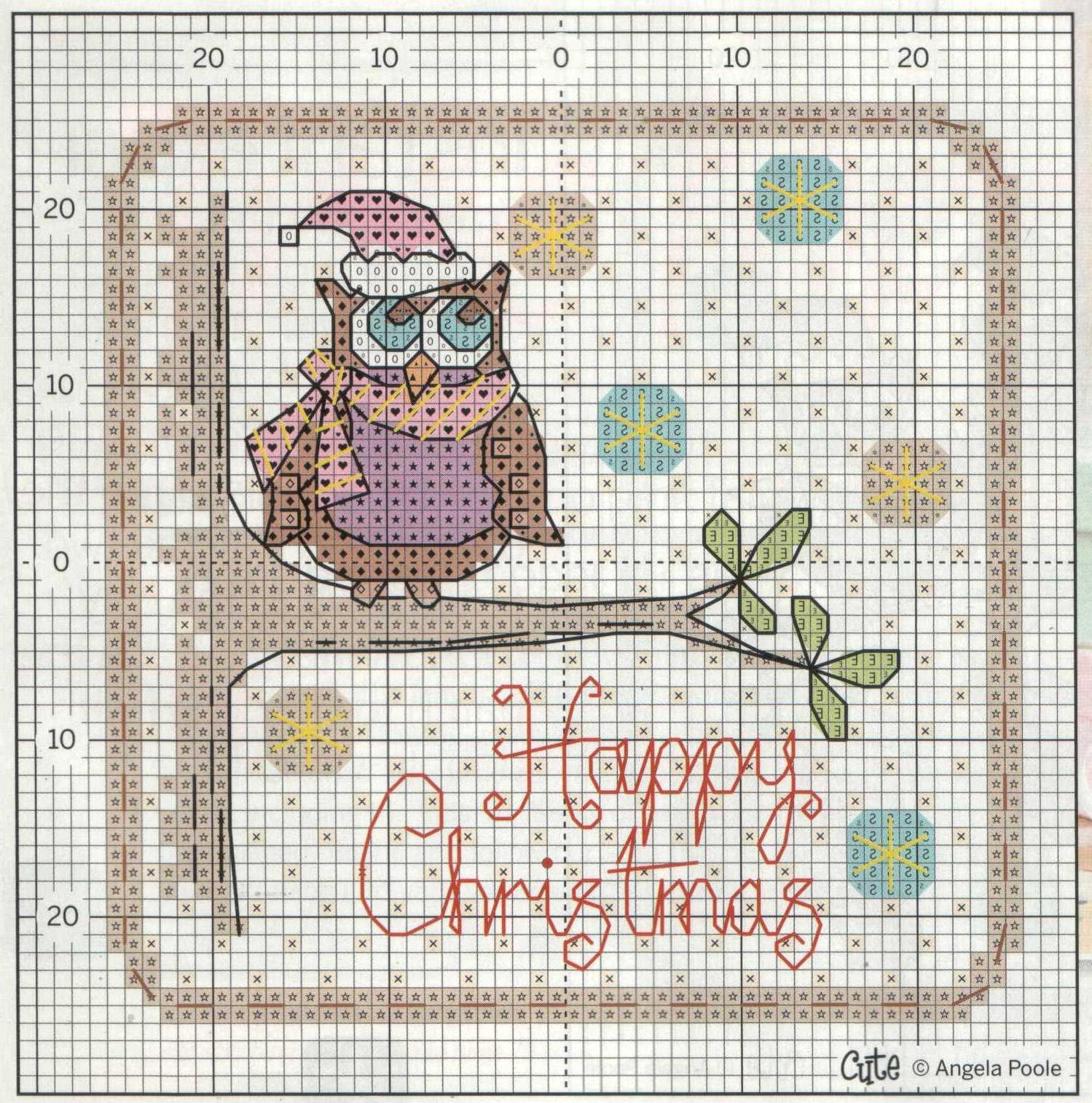 Схемы вышивок крестом новогодних открыток