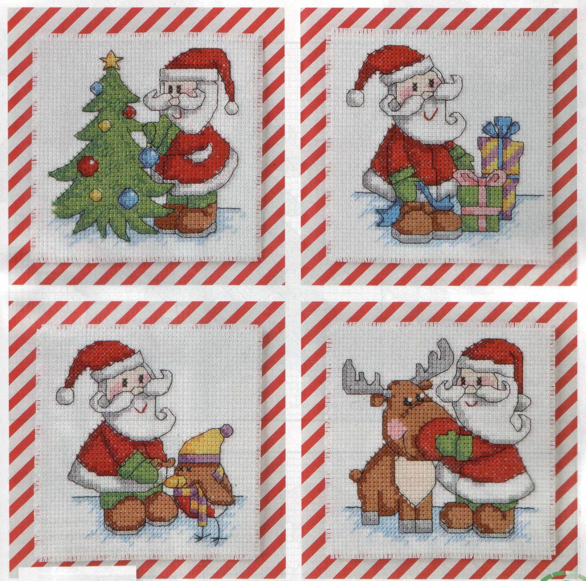 Вышивка крестом схемы новогодние на открытку, книжки заказать летящий