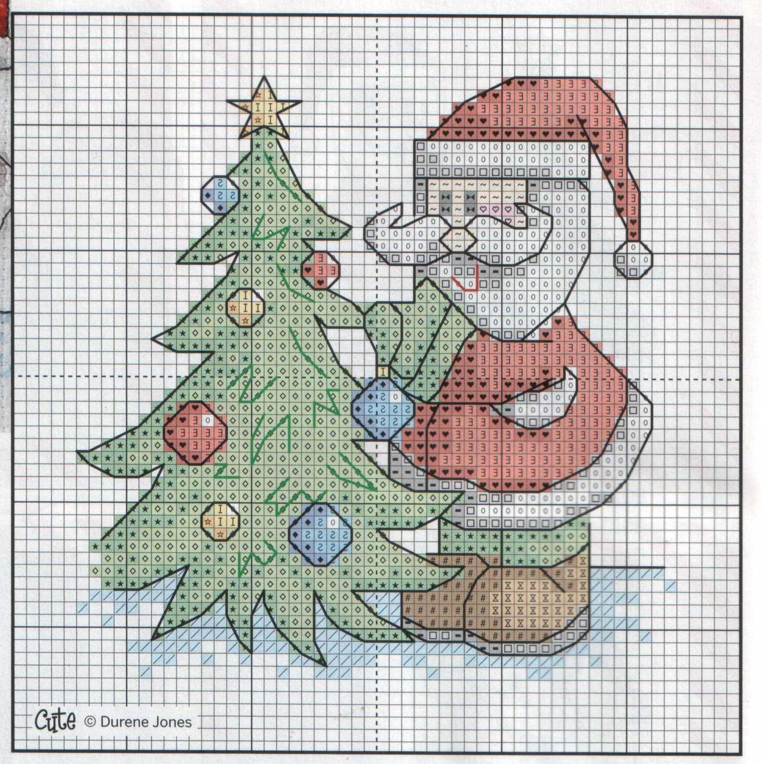 Схемы вышивки открыток с новым годом, летием